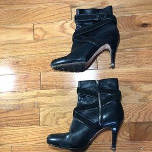 Women's Cole Haan Cognac Leather Zip Up Booties